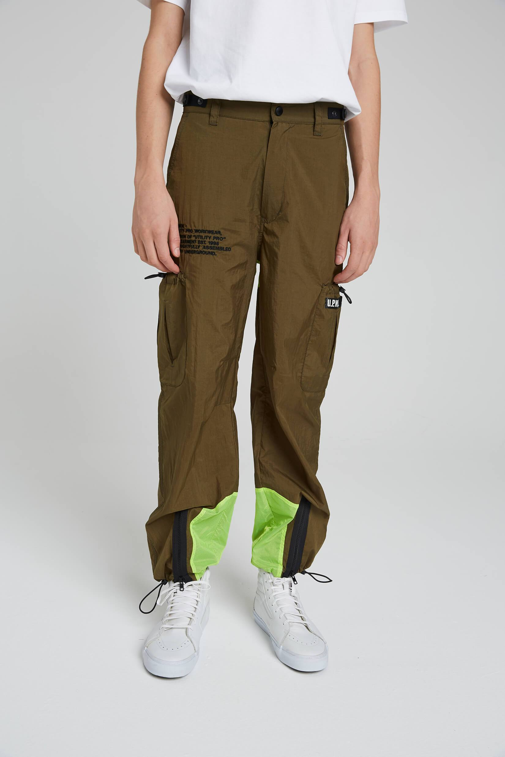 Zipped Cargo Pants - Green