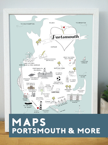 MAPS & HOME TOWN PRINTS