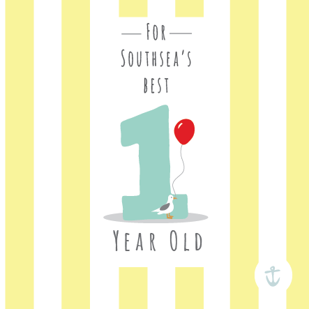 Kids Southsea's Best 1 Year Old Card