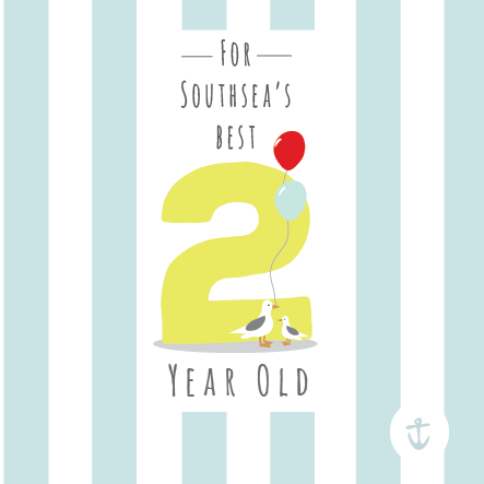 Kids Southsea's Best 2 Year Old Card