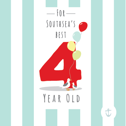 Kids Southsea's Best 4 Year Old Card
