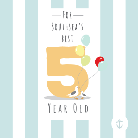 Kids Southsea's Best 5 Year Old Card