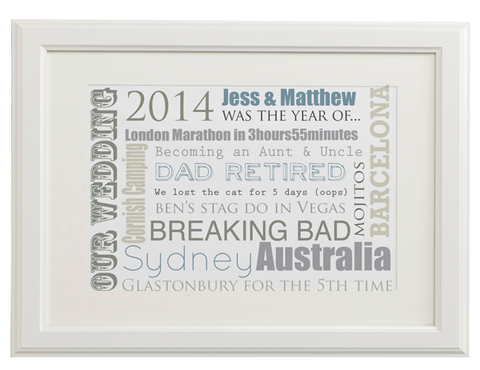 Personalised Memorable Year Print