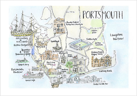 Portsmouth Map Card