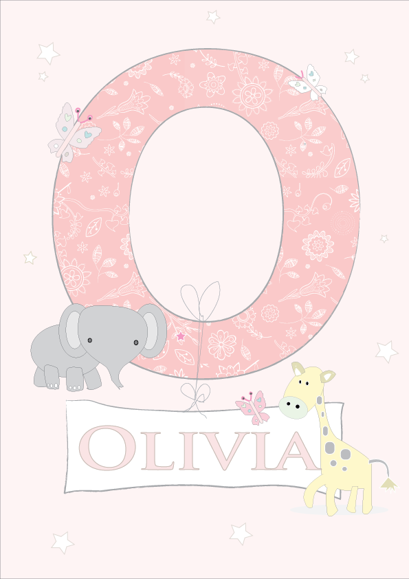 Personalised Alphabet Letter in Pink