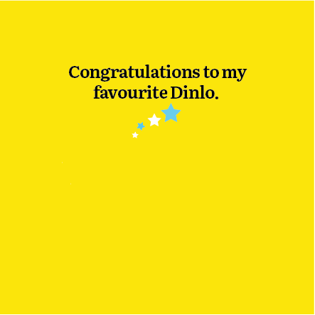 Congratulations to my Favourite Dinlo Card