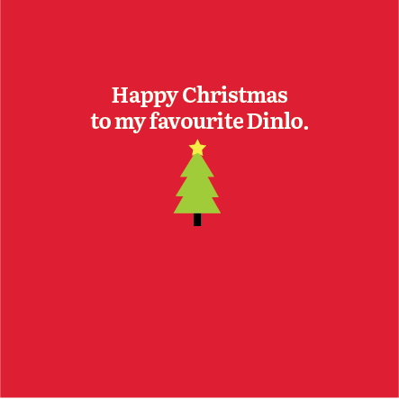 Christmas Dinlo Card