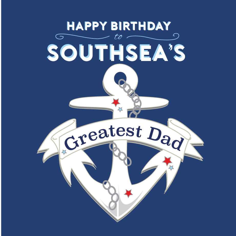 Southsea's Greatest Dad Card