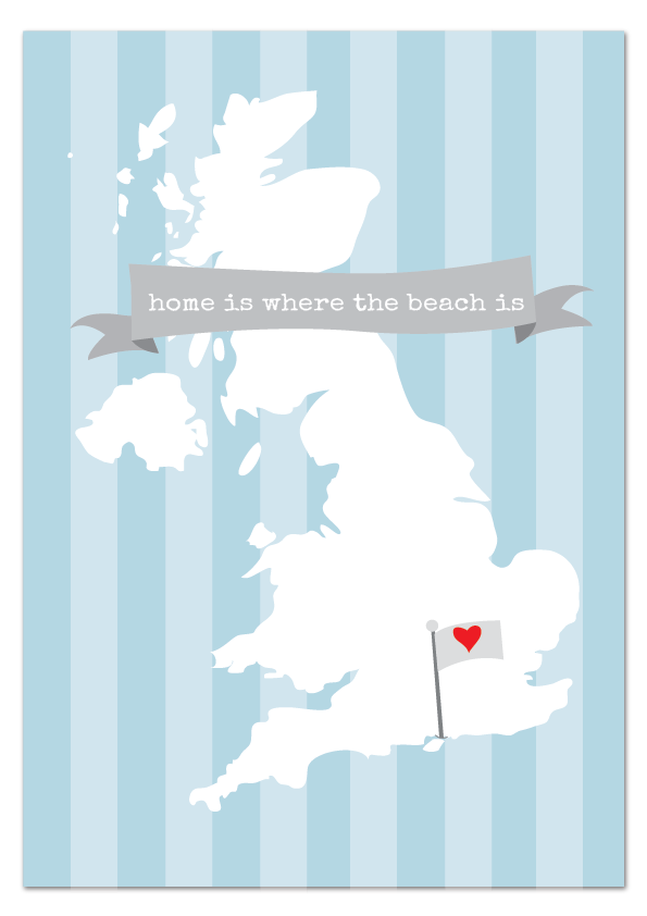home is where the beach is Portsmouth & Southsea print