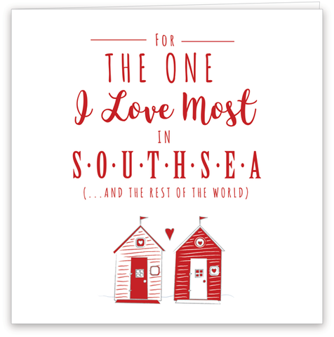 One I Love in Southsea Card