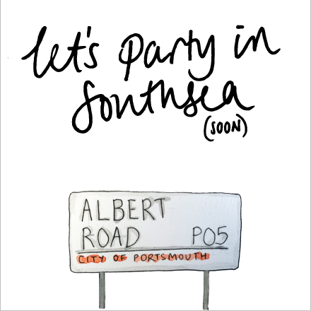 Let's Party in Southsea Card