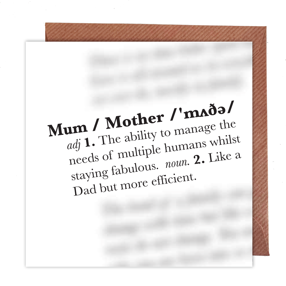 Mum Definition Card