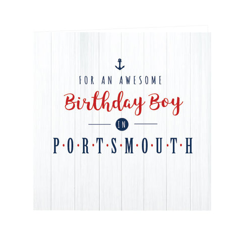 For an Awesome Birthday Boy in Portsmouth... Card