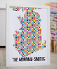 Personalised Portsmouth Heart & Anchor Map