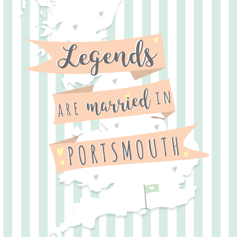 Legends are Married in Portsmouth Card