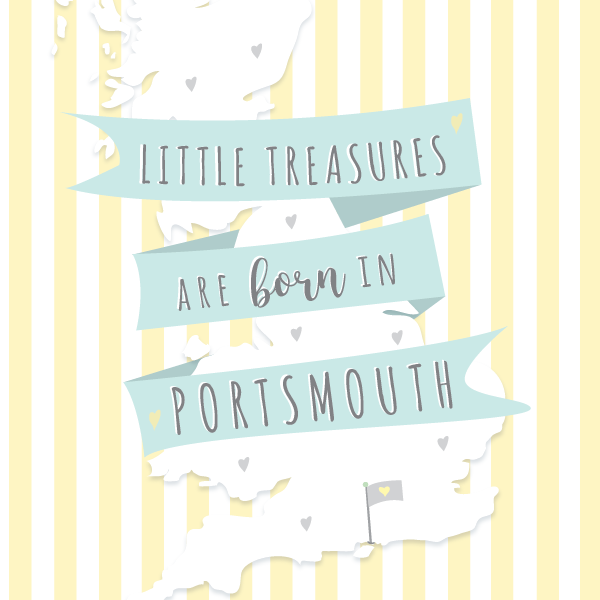 Little Treasures are Born in Portsmouth Card