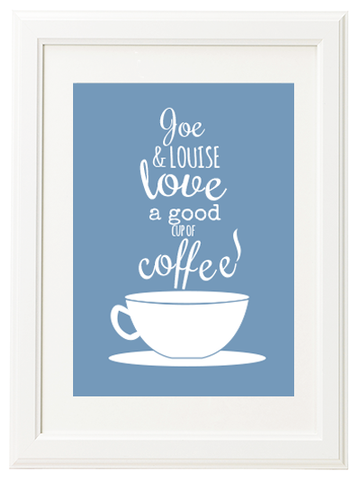 Personalised Cup of Coffee Print