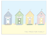 Four Personalised Beach Huts