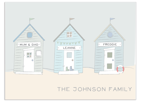 Three Personalised Beach Huts