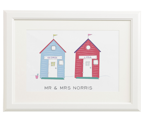 Two Personalised Beach Huts