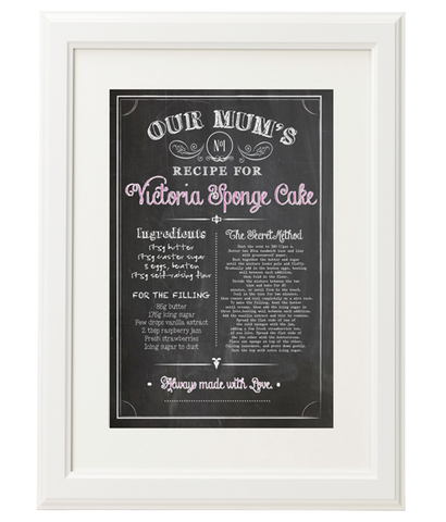Personalised Recipe Print