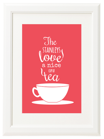 Personalised Cup of Tea Print