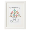 Personalised Family Cupcake Stand Print