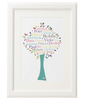 Personalised Family Tree 'Apple' Design