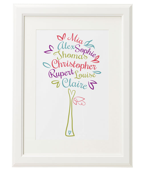 Personalised Family Tree 'Mulberry' Design