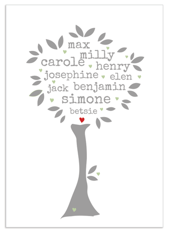 Personalised Family Tree 'Willow' Design
