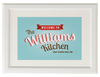 Personalised Retro Kitchen Print