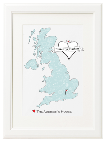Personalised UK Home Map