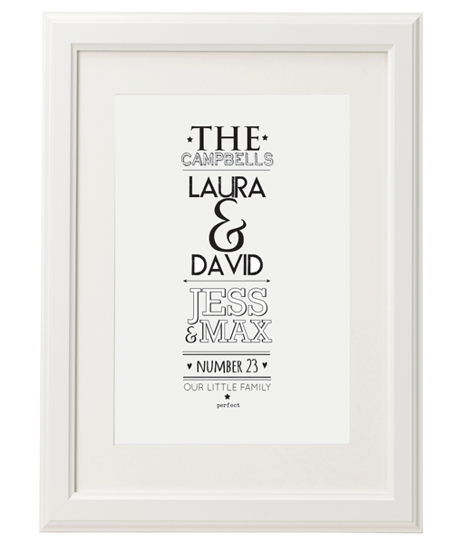 Personalised Family Names Print – Bay Tree Gallery