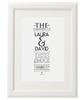 Personalised Family Names Print