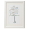 Personalised Family Tree 'Ginko' Design