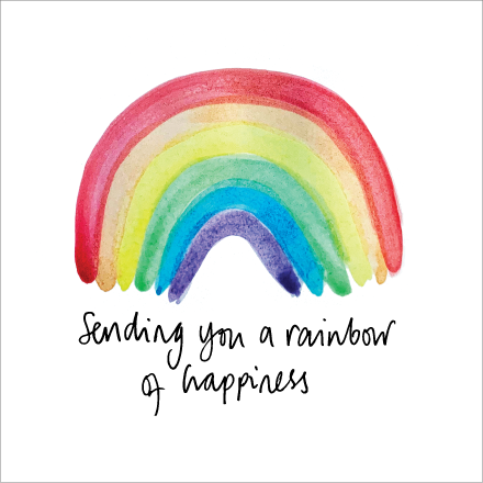 Sending You a Rainbow of Happiness card