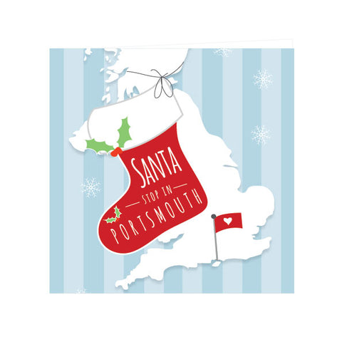 Santa Stop in Portsmouth Greeting Card