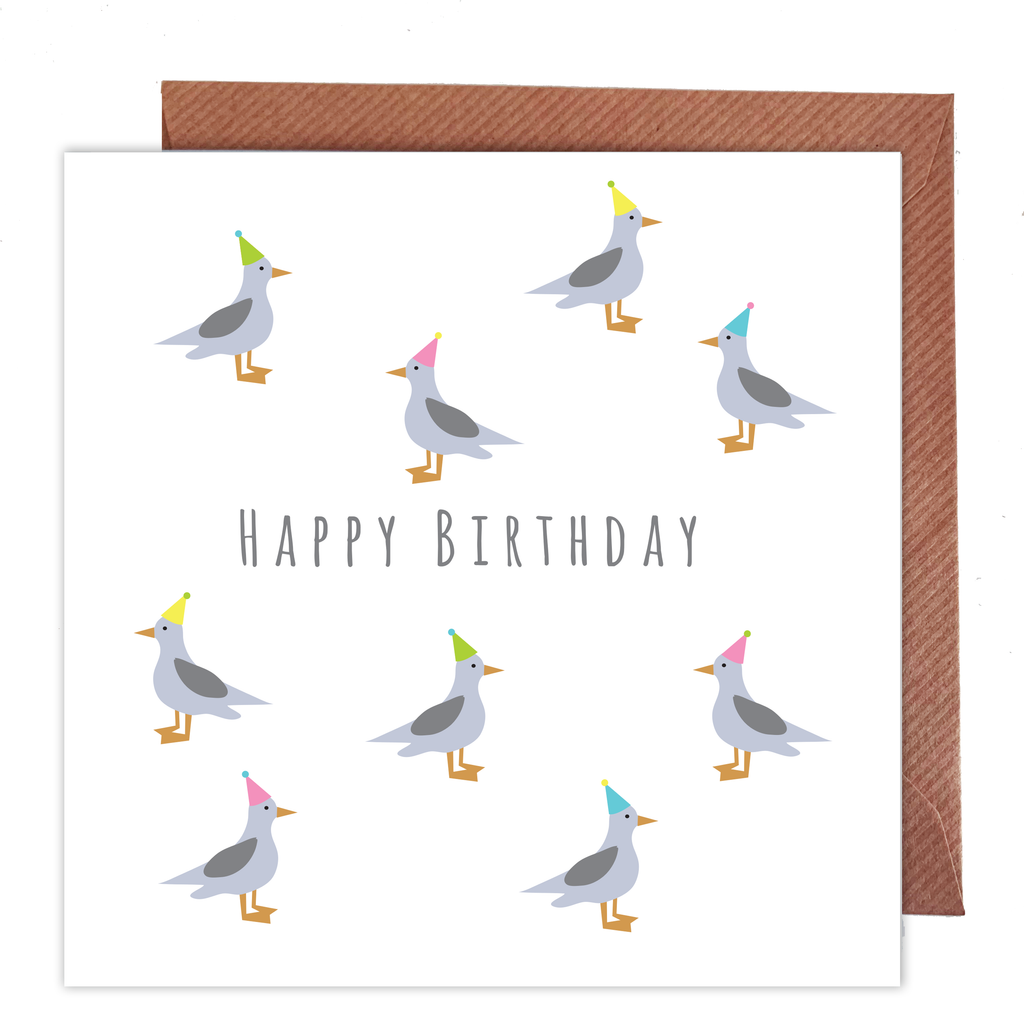 Seagulls Birthday Card