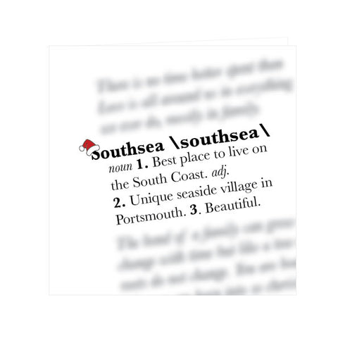 Southsea Christmas Definition.... Greeting Card
