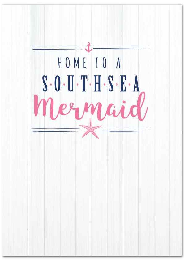 Home to a Southsea Mermaid Print