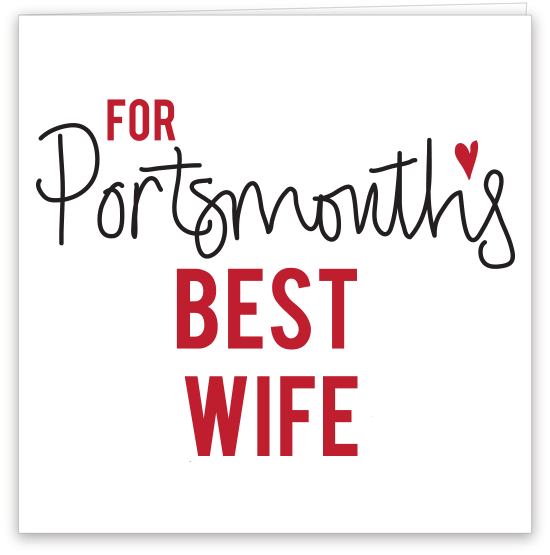 Portsmouth's Best Wife Card