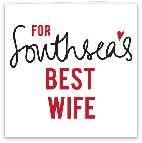 Southsea's Best Wife Card