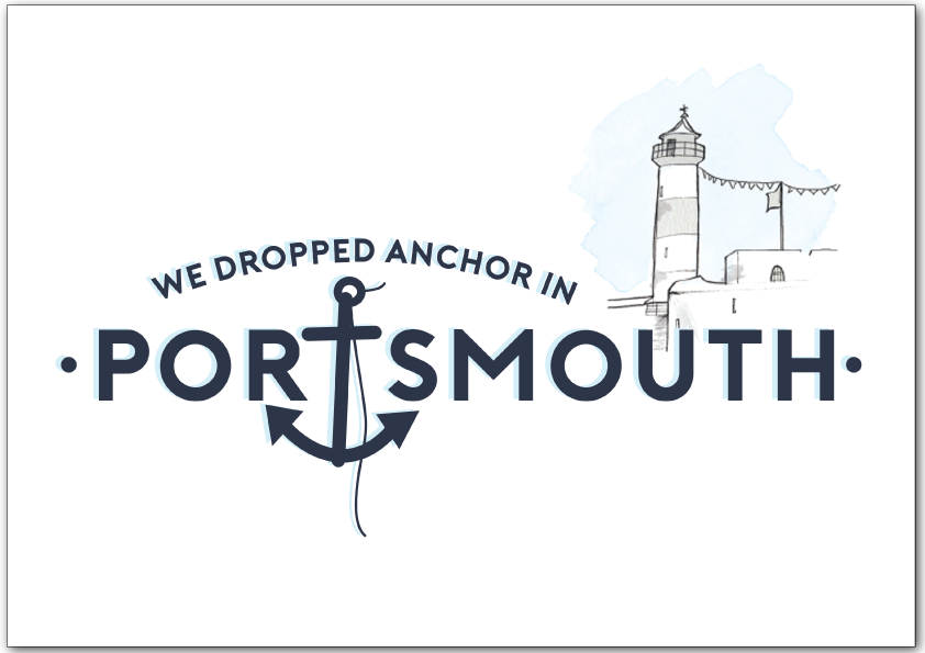 We Dropped Anchor in Portsmouth Print