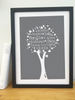Personalised Family Tree 'Plum' Design
