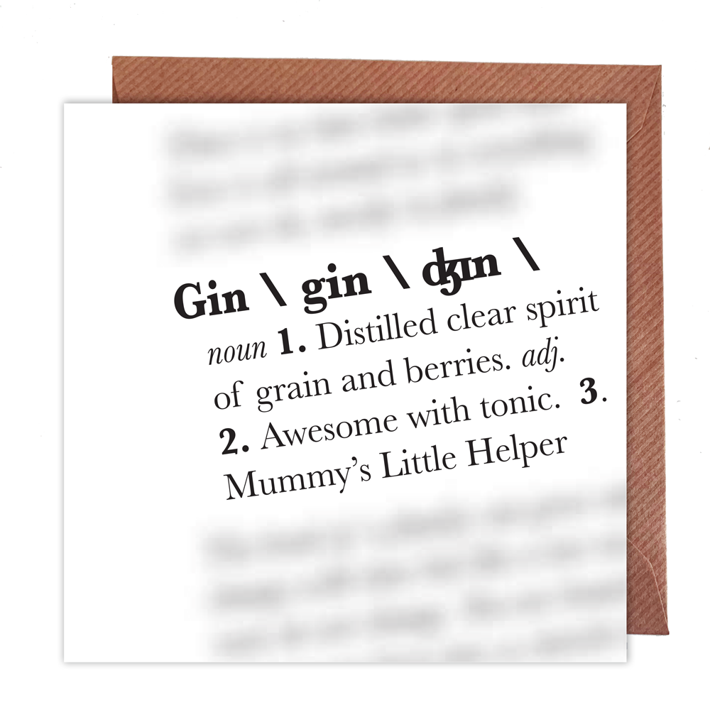 Gin Definition Card