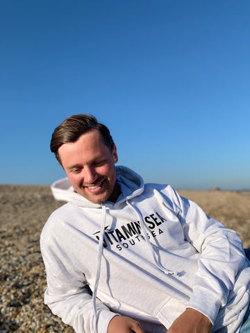 Vitamin Sea Southsea Hoodie - Soft Grey