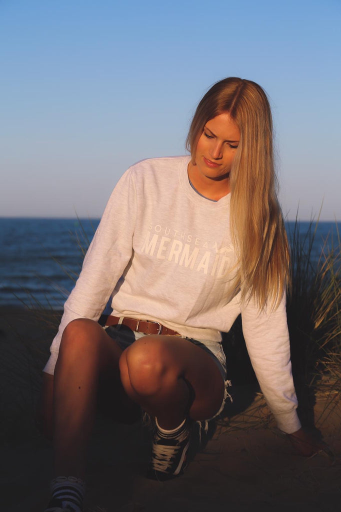 Southsea Mermaid Adult Sweatshirt - Soft Grey
