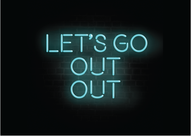 Let's Go Out Out Card