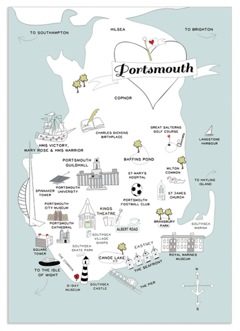 Map of Portsmouth Print