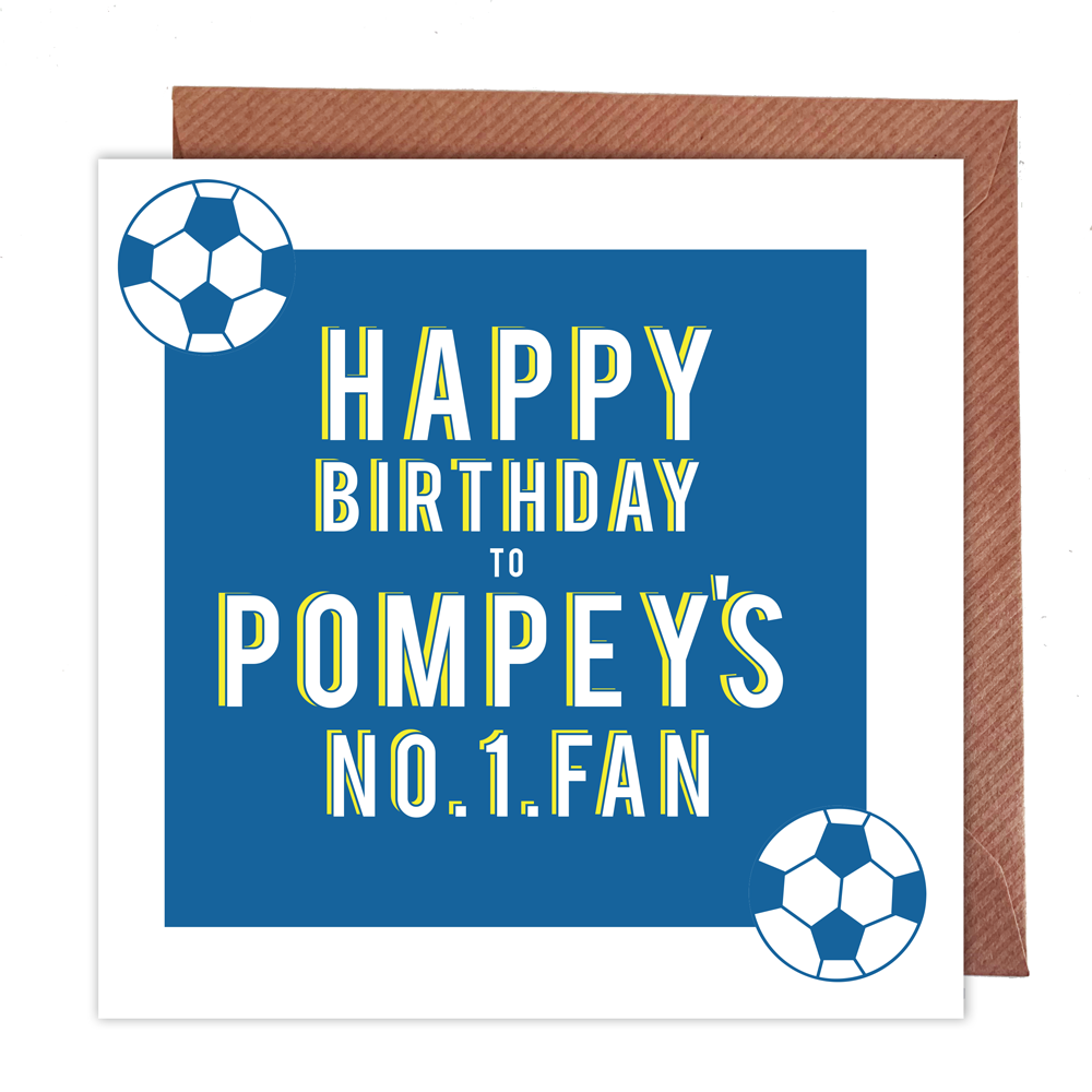 Pompey's Number 1 Fan Card